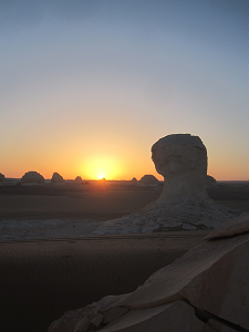 Sunrise in the white desert