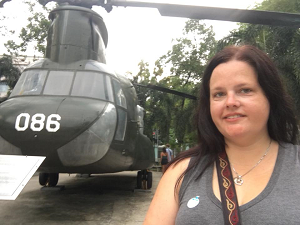 Me with a Chinook in Ho Chi Minh City