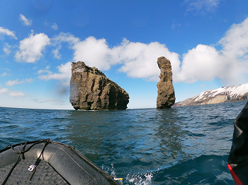 Jagged Rocks around Deception Island