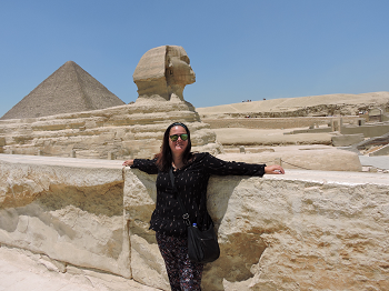 Me at the Sphinx, deserted